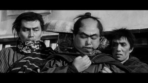 Inokichi (Daisuke Katô) uses his fingers to work out if 4 is more than 2. Yojimbo has many moments of black comedy