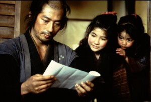 Seibei (Hiroyuki Sanada) might be a reluctant samurai, but is certainly a hard-working hero of a father to his two young daughters