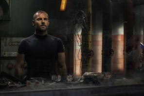 Whit Carmichael (Daniel MacPherson) in a scene from INFINI, directed by Shane Abbess.