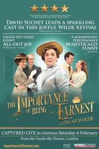 NT Live The Importance of being Earnest poster